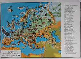 I 35 Map Natural Vegetation And Characteristic Wild Animals Of Europe