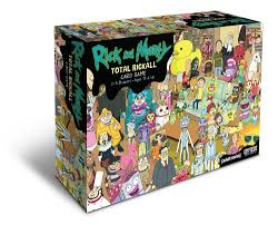 rick and morty total rickall cooperative card game toy pinterest