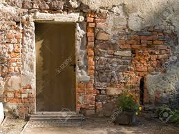 old door in ancient european house stock photo picture and
