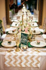 emerald green table runners emerald and chagne wedding ideas chagne emeralds and sugaring