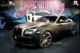 roll royce forgiato tuningcars choco gold rolls royce wraith by ms motors