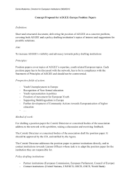 Sample Partnership Proposal Concept Proposal For Aegee Europe Position Papers