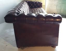 Chesterfield Sofa Sale by Brown Leather Button Tufted Chesterfield Sofa Classic For Sale At
