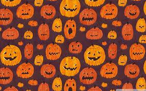 halloween pumpkins pattern hd desktop wallpaper high definition