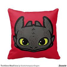 Home Decor Icon Toothless Head Icon Throw Pillow Home Decor Decoración Pillow
