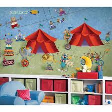 big top circus animals giant wallpaper accent mural obedding com big top circus wall murals chair rail