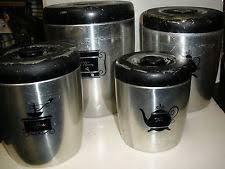 black canister sets for kitchen bend canister ebay