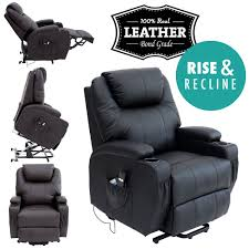 Ebay Armchair Cinemo Elecrtic Rise Recliner Leather Masseage Heat Armchair Sofa