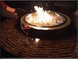 Wine Barrel Fire Pit Table by Custom Tables And Projects Fire Pits And Fireplaces Propane