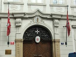 Maltese Flag Meaning File Embassy Of Sovereign Military Order Of Malta In Prague Jpg