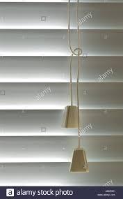 venetian blind cord pulls window detail stock photo royalty free