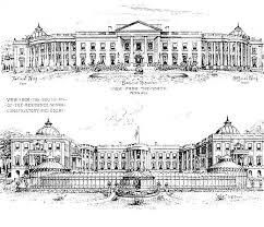 north and south views of proposed additions white house