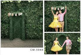wedding backdrop green 2017 5x7ft green wall for wedding backdrop computer printed