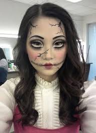 Doll Halloween Costumes Cracked Porcelain Doll Makeup Halloween Recipes Ideas