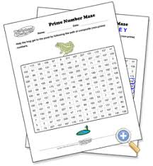 prime numbers maze preview prime composite numbers pinterest