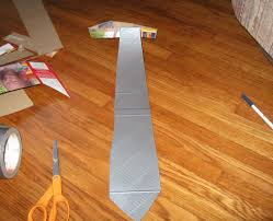 Halloween Duct Tape Crafts Duct Tape Tie 4 Steps