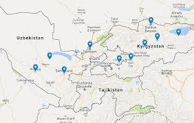Kyrgyzstan Map Wander To Kyrgyzstan Uzbekistan Wandering Earl Tours