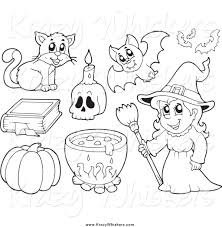 free black and white witch clipart 44