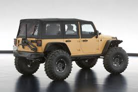jeep convertible 4 door jeep and mopar reveal six new concept vehicles cartype