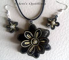 quilling earrings set quilled jewellery set by jensquilling on deviantart
