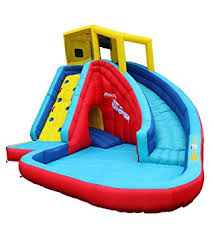Backyard Water Slide Inflatable by Amazon Com Banzai Sidewinder Falls 15 Foot Inflatable Waterpark