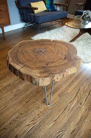 Build Wood End Tables by Remodelaholic Diy Simple Wood Slab Coffee Table When U2026 Pinteres U2026