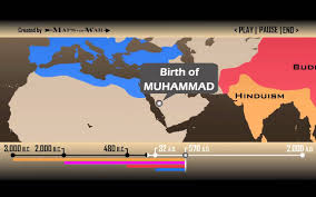 Map Of World Religions by Religion Global History Timeline 1 Min 30 Sec Youtube
