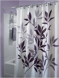 Curtain In Bathroom Nice Gray And White Shower Curtain With Leaf Motif Jpg