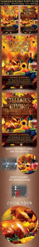 giving thanks on thanksgiving day thanksgiving day party flyer by oloreon graphicriver