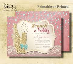 bridal brunch shower invitations diamond brunch and bubbly bridal shower invitation brunch