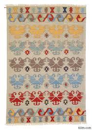 Kilim Area Rug K0003882 Multicolor New Turkish Kilim Area Rug