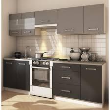 cuisine cdiscount grace cuisine complète l 2m40 gris et anthracite mat achat