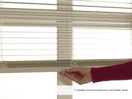 phase ii 1 u201d cordless one touch aluminum mini blinds phase ii
