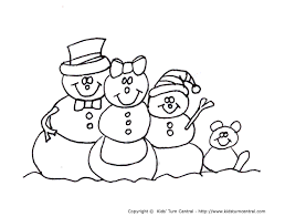Coloring Page Snowman Family | snowman family coloring pages getcoloringpages com