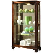 Corner Lighted Curio Cabinet Amazon Com Pulaski Mantel Curio 33 By 15 By 59 Inch Brown