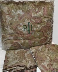 Ralph Lauren Comforters Ralph Lauren Hayden Paisley Houndstooth King Comforter Set New