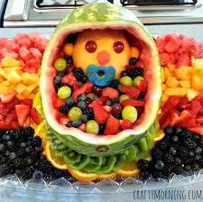 fruit basket ideas diy baby fruit basket for a baby shower crafty morning