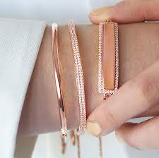 rose gold swarovski crystal bracelet images Love adjustable bracelet swarovski crystal rose gold jpg