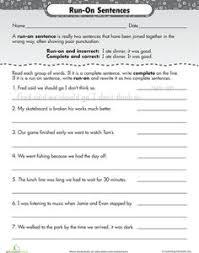 work on writing run on sentences writing sentences work on