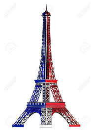 French Flag Eiffel Tower Eiffel Tower Painted In The Colors Of The National Flag Of France