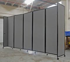 Metal Room Dividers by Dividing Large Open Warehouse Space With Room Dividers