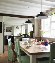 Tags Craftsman Style Green Photos Kitchens Scandinavian Dining - Green kitchen table