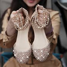 wedding shoes mall i want pearls flat wedding shoes with bling bling flat wedding