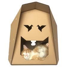 Cardboard Origami - origami cardboard cat house cat cat cave cat bed cat