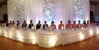 25th Wedding Anniversary Table Centerpieces by Reception Head Table Decoration Ideas Google Search 25th