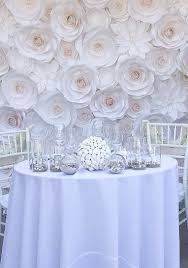 wedding backdrop used unique paper roses can be used for unique wedding decorations