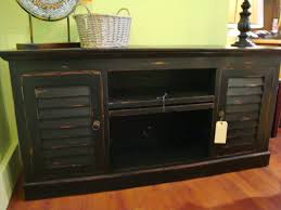 shutter plasma tv stand cabinet mahogany wood cottage painted