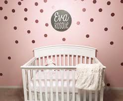 tell us which project you the most project nursery pink and white nursery with rose gold polka dot wall decals project nursery