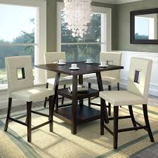 corliving bistro 5 piece counter height rich dining set