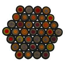 indian summer hexagon runner 15 u2033 x 17 u2033